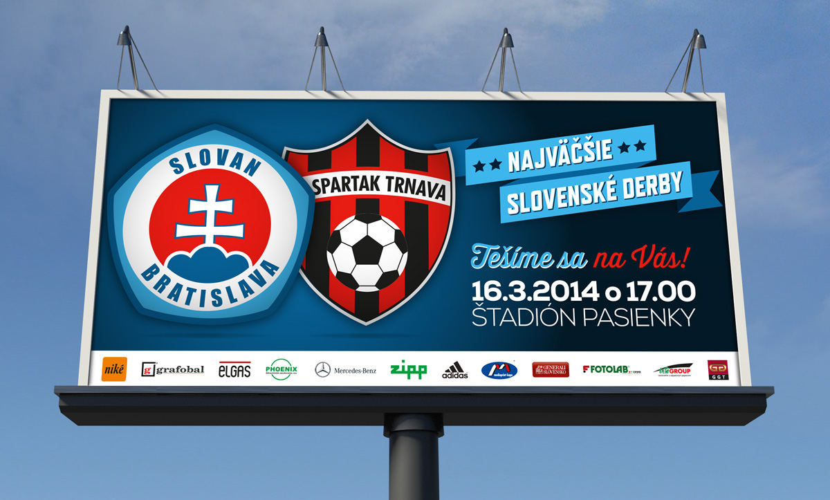 ŠK Slovan Bratislava bilboard derby