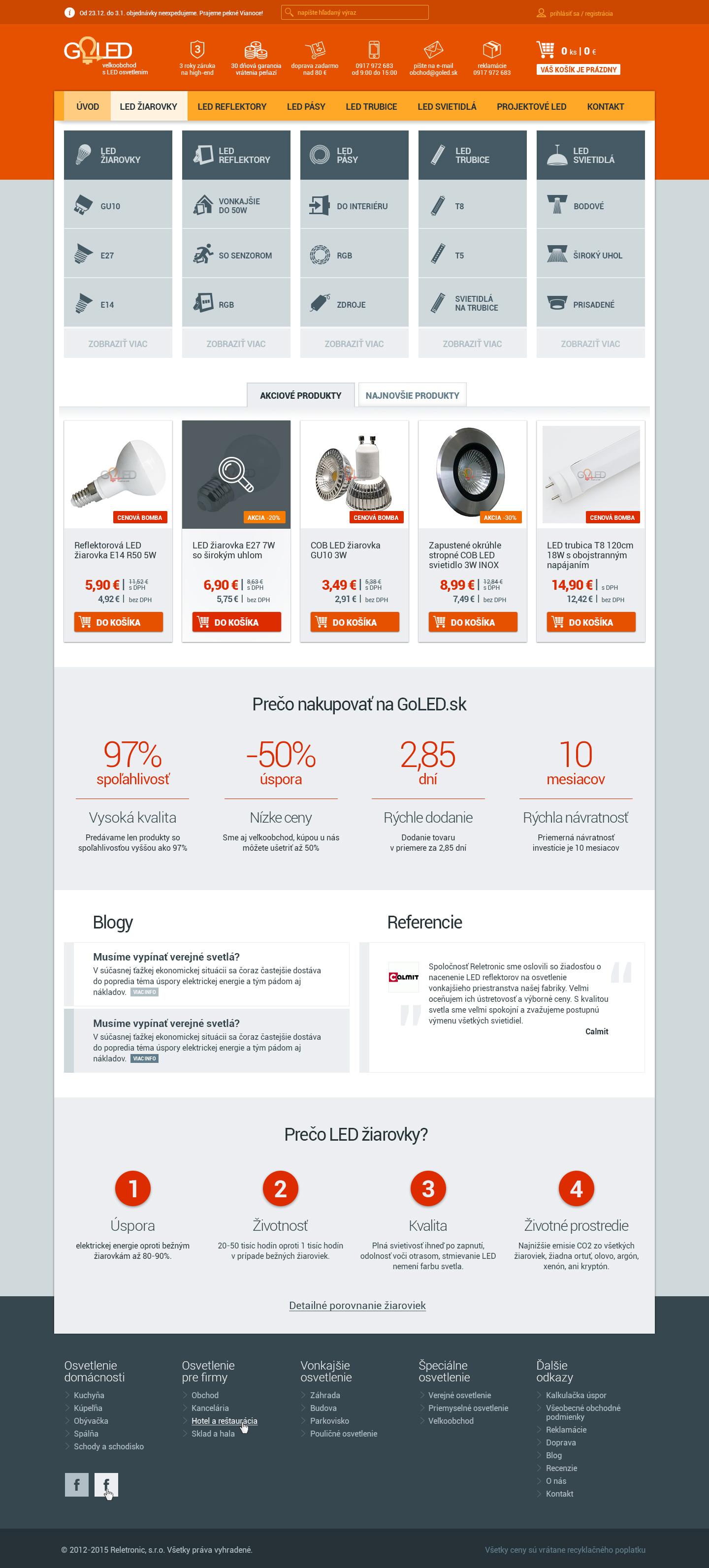 GOLED.sk - homepage