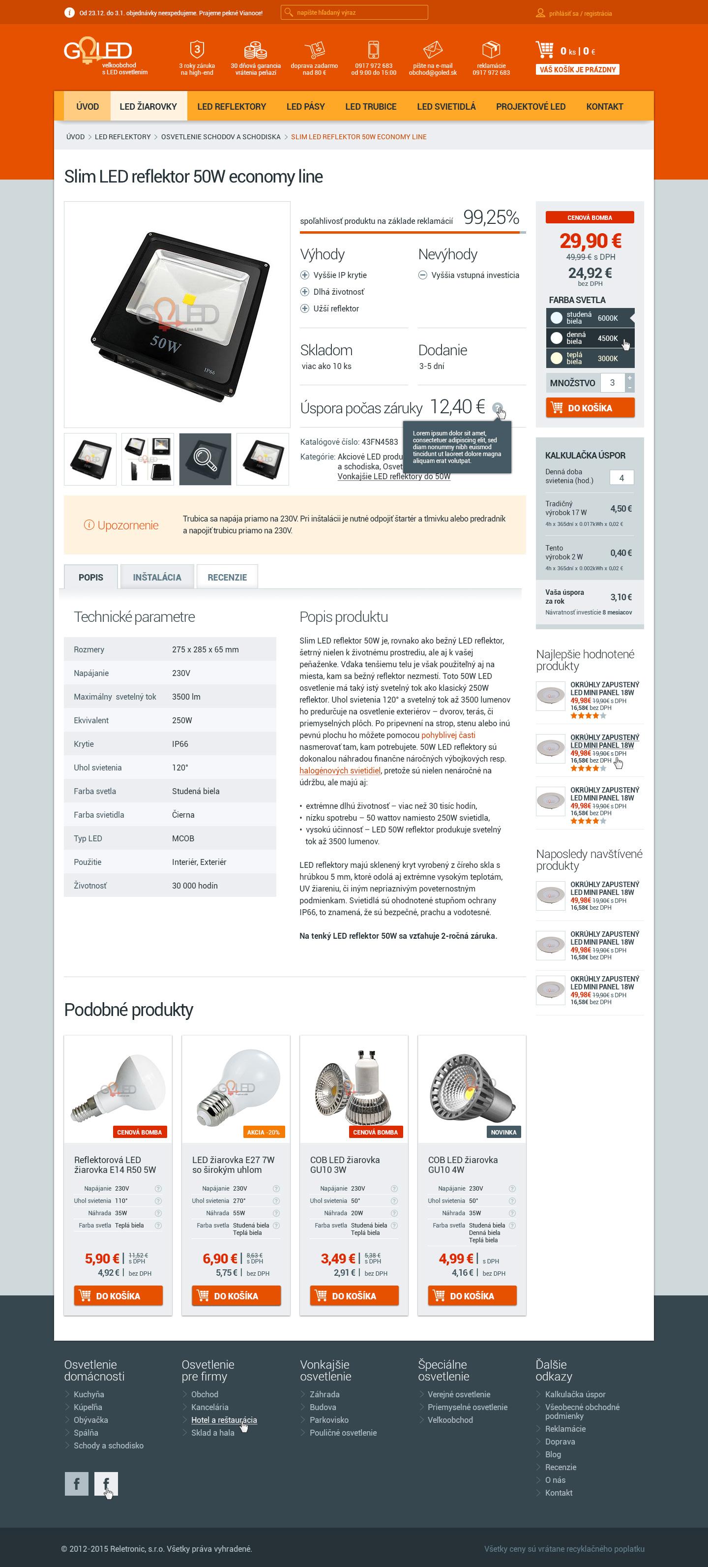 GOLED.sk - detail produktu