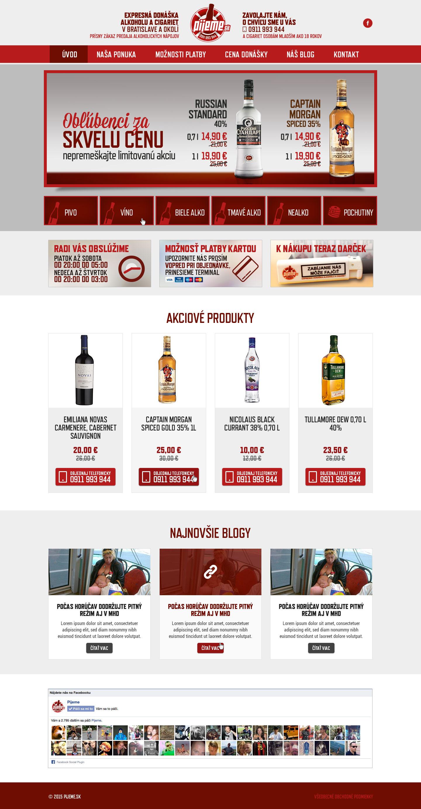 Pijeme.sk - homepage