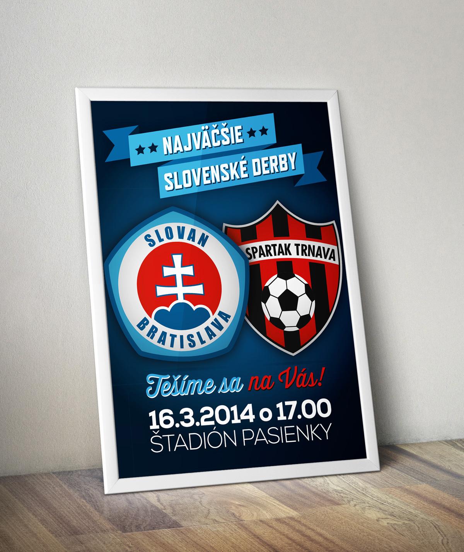 ŠK Slovan Bratislava plagát derby