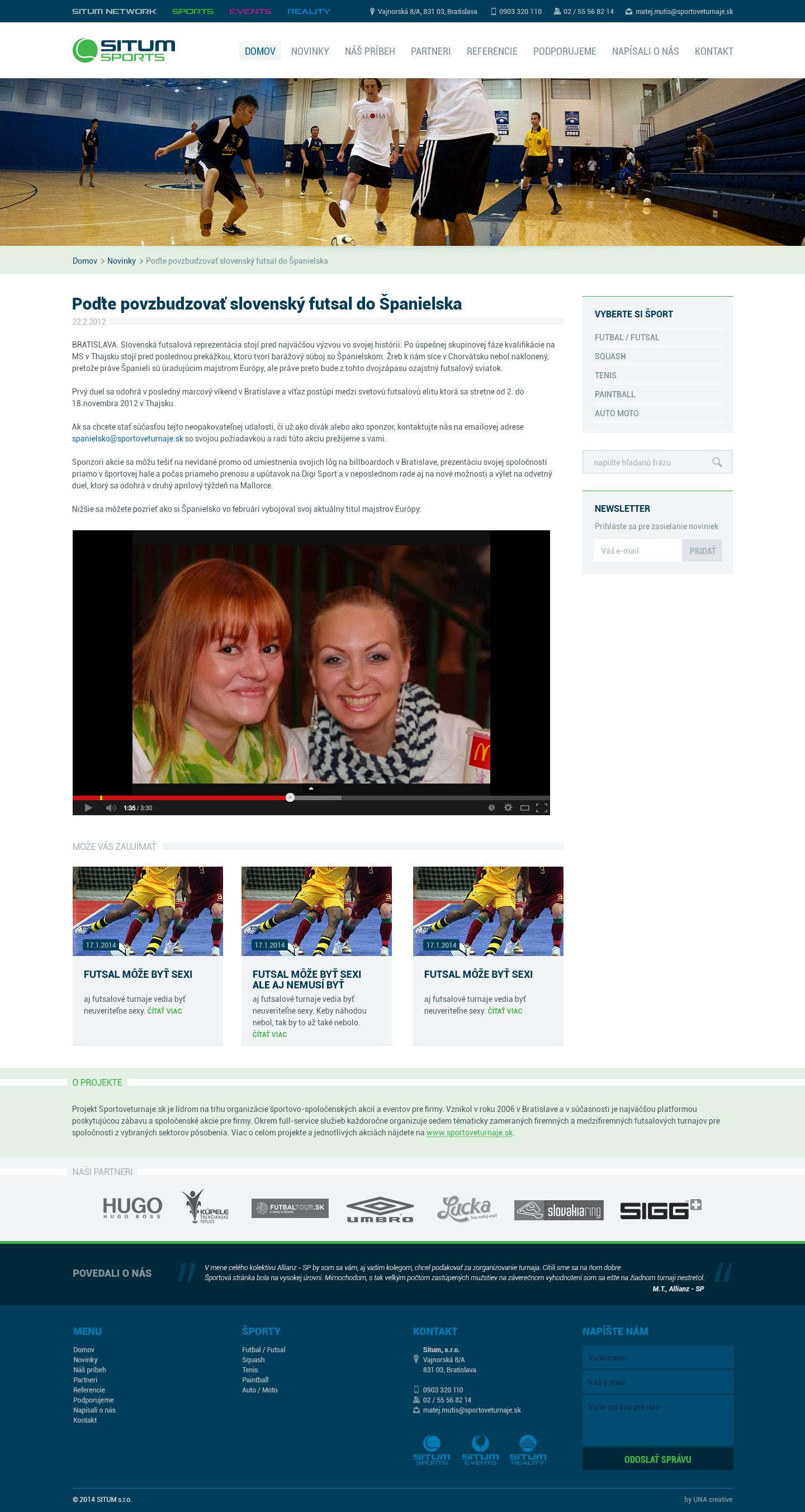 Situmsports.sk - detail novinky