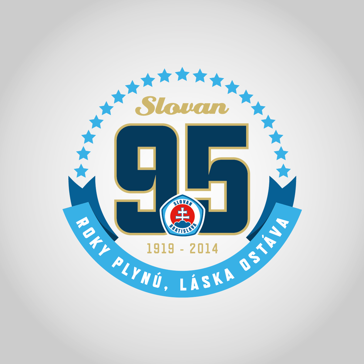 95 rokov ŠK Slovan logo