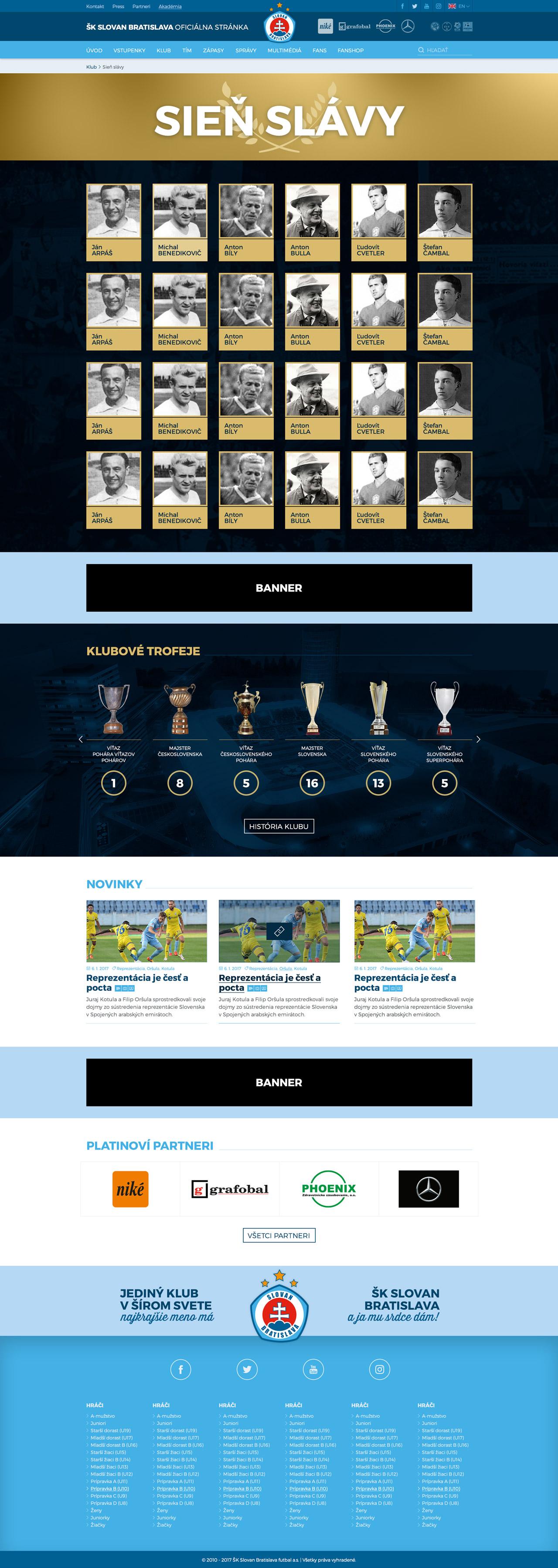 SKSLOVAN.com - sieň slávy