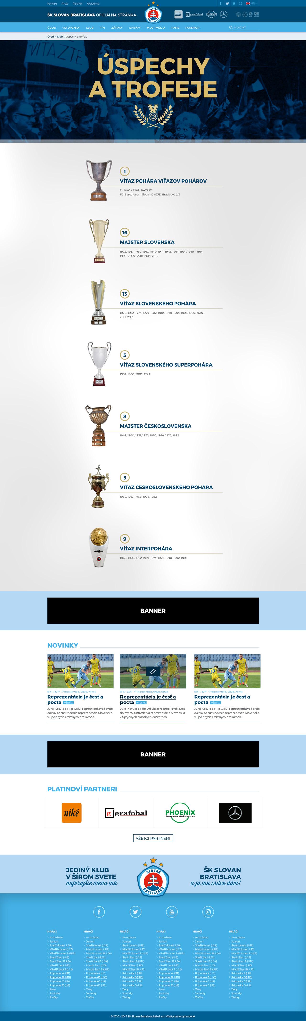 SKSLOVAN.com - úspechy a trofeje