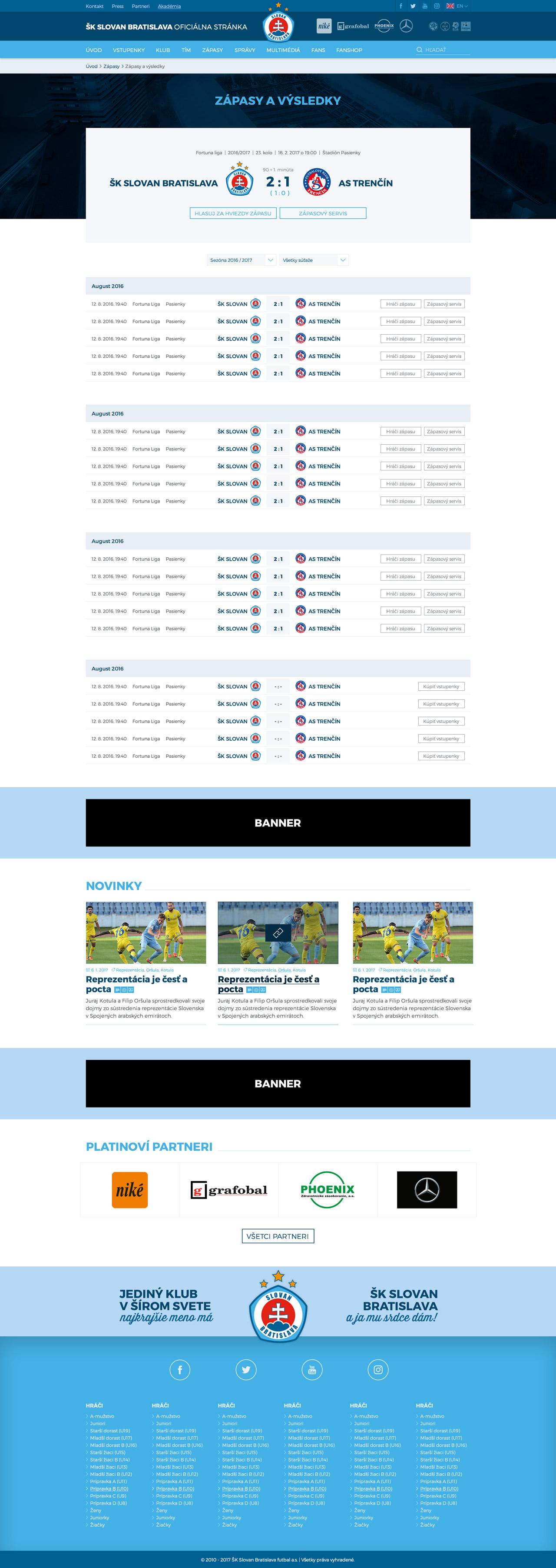 SKSLOVAN.com - zápasy a výsledky
