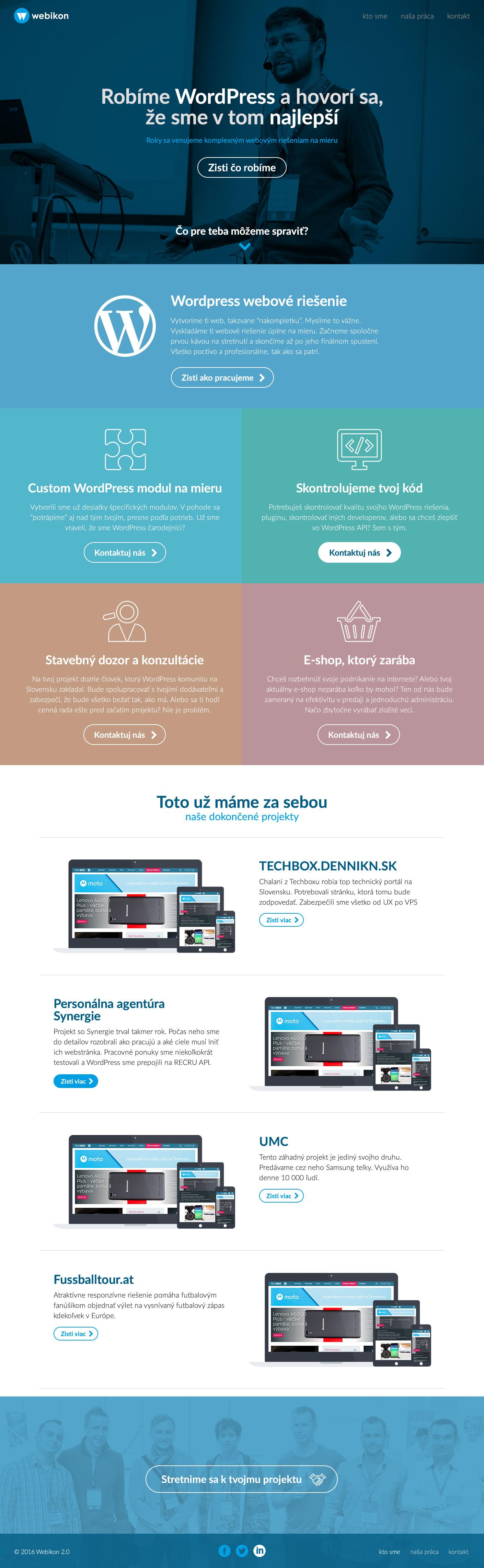 Webikon.sk - homepage