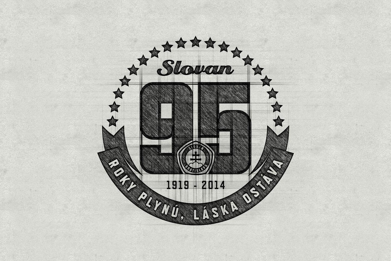 95 rokov ŠK Slovan logo sketch