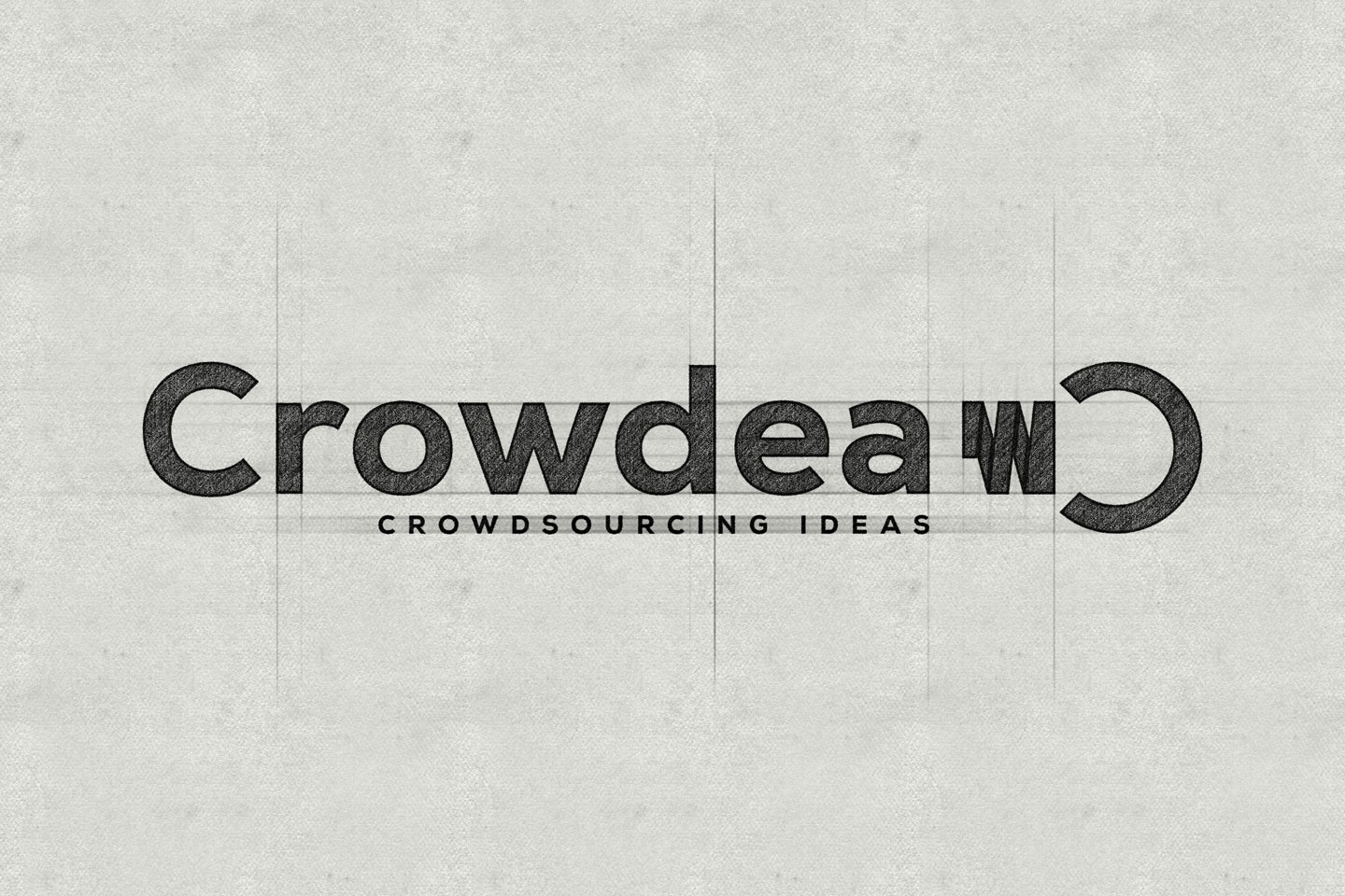 Crowdea logo sketch