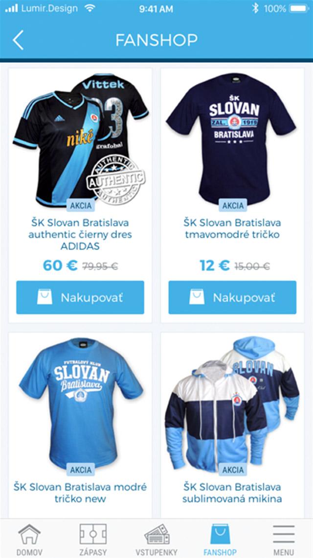 ŠK Slovan aplikácia